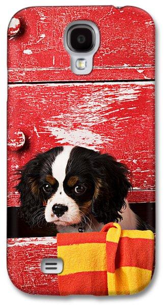 King Charles Cavalier Puppy  Galaxy S4 Case