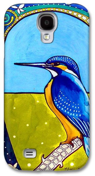 Galaxy S4 Case featuring the painting Kingfisher by Dora Hathazi Mendes