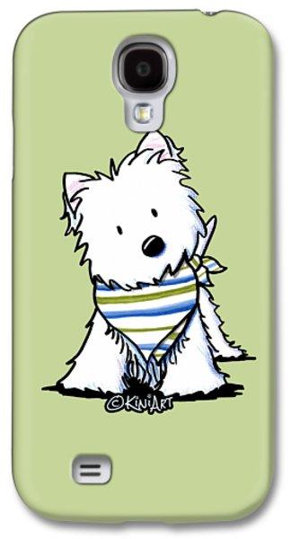 Kiniart Westie Terrier Galaxy S4 Case by Kim Niles