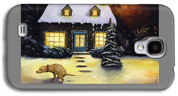 Kinkade's Worst Nightmare For Christmas  Galaxy S4 Case by Leah Saulnier The Painting Maniac
