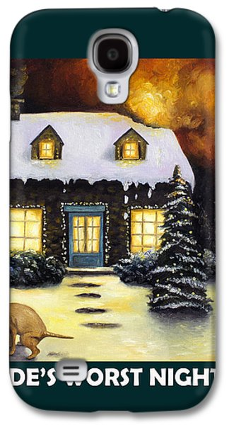 Kinkade's Worst Nightmare With Lettering Galaxy S4 Case by Leah Saulnier The Painting Maniac