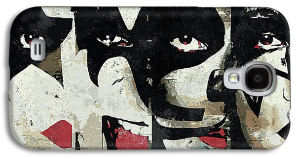 Rock And Roll Galaxy S4 Case - Kiss Art Print by Geek N Rock