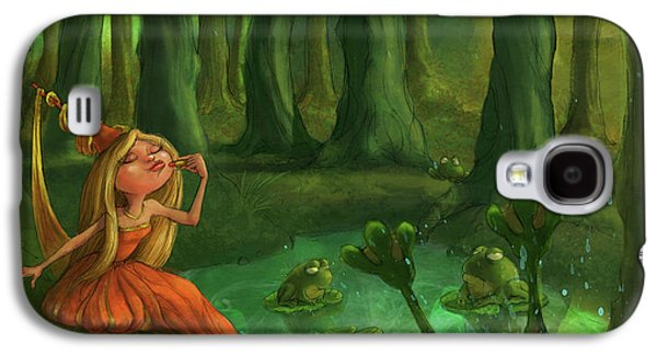 Castle Galaxy S4 Case - Kissing Frogs by Andy Catling