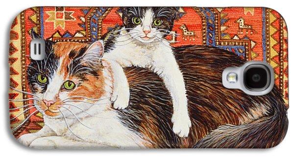 Kit Cat Carpet Galaxy S4 Case by Ditz