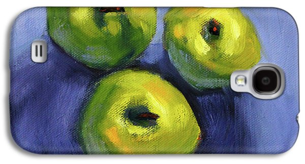 Galaxy S4 Case featuring the painting Kitchen Pears Still Life by Nancy Merkle