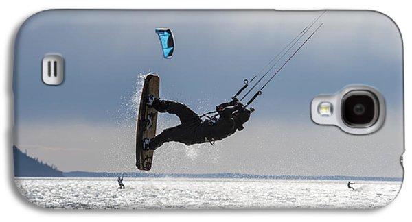 Kite Boarders On Turnagain Arm Galaxy S4 Case by Daryl Pederson