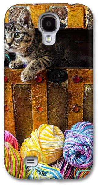 Kitten Hiding In Treasure Box Galaxy S4 Case
