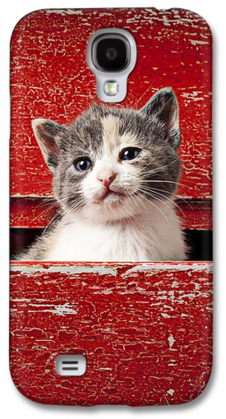 Kitten In Red Drawer Galaxy S4 Case