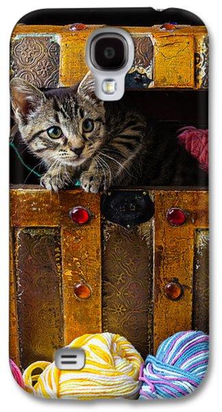 Kitten In Treasure Box Galaxy S4 Case