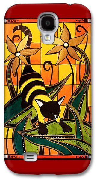 Kitty Bee - Cat Art By Dora Hathazi Mendes Galaxy S4 Case