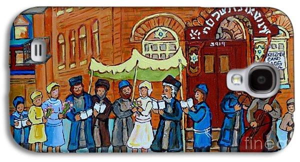 Klezmer Band Street Musicians Under The Chupa Wedding Bagg Street Jewish Art Carole Spandau          Galaxy S4 Case