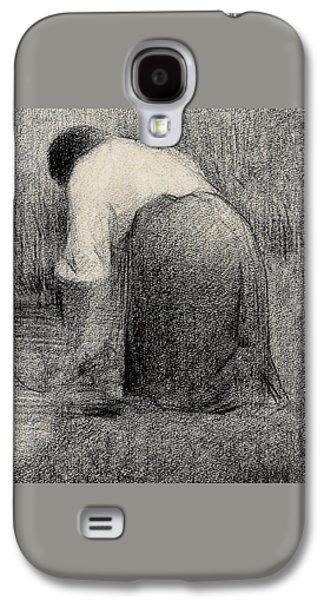 Kneeling Woman Galaxy S4 Case