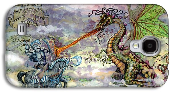 Fantasy Galaxy S4 Case - Knights N Dragons by Kevin Middleton