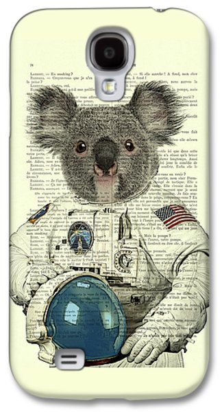 Koala In Space Illustration Galaxy S4 Case by Madame Memento