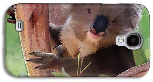 Koala  Painting Galaxy S4 Case by Michael Greenaway