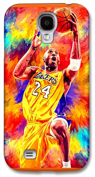 Kobe Bryant Basketball Art Portrait Painting Galaxy S4 Case by Andres Ramos