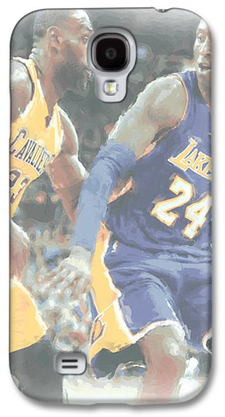 Kobe Bryant Lebron James 2 Galaxy S4 Case by Joe Hamilton