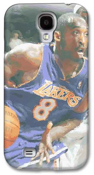 Kobe Bryant Lebron James Galaxy S4 Case by Joe Hamilton