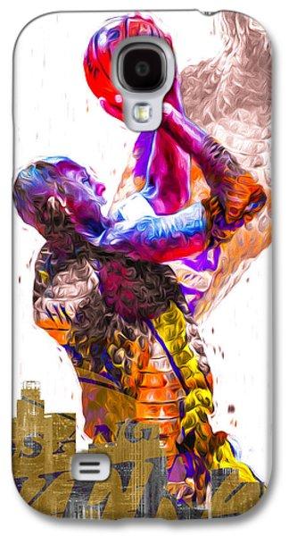 Kobe Bryant Los Angeles Lakers Digital Painting Snake 1 Galaxy S4 Case