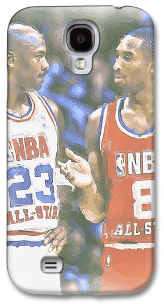 Kobe Bryant Michael Jordan Galaxy S4 Case by Joe Hamilton