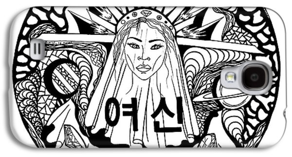 Korean Goddess Black And White Galaxy S4 Case
