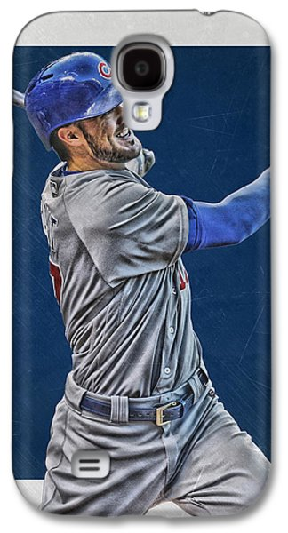 Kris Bryant Chicago Cubs Art 3 Galaxy S4 Case by Joe Hamilton