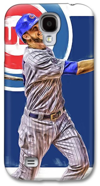 Kris Bryant Chicago Cubs Oil Art Galaxy S4 Case by Joe Hamilton
