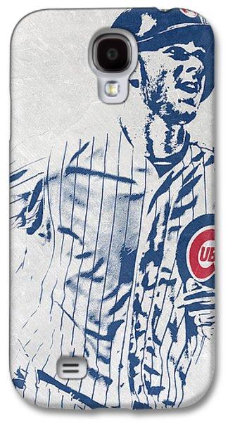 kris bryant CHICAGO CUBS PIXEL ART 2 Galaxy S4 Case by Joe Hamilton