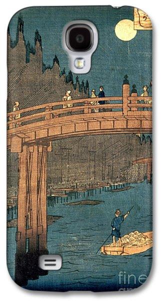 Kyoto Bridge By Moonlight Galaxy S4 Case by Hiroshige