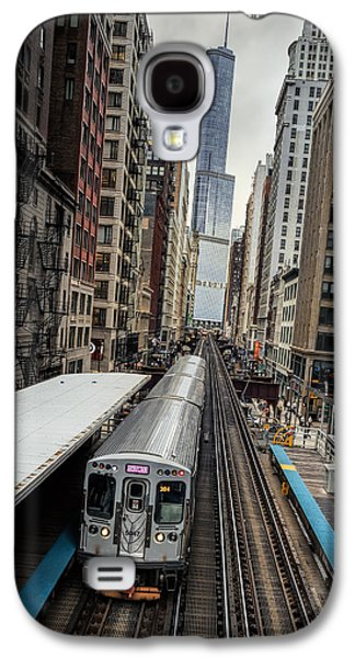L Train Station In Chicago Galaxy S4 Case by James Udall