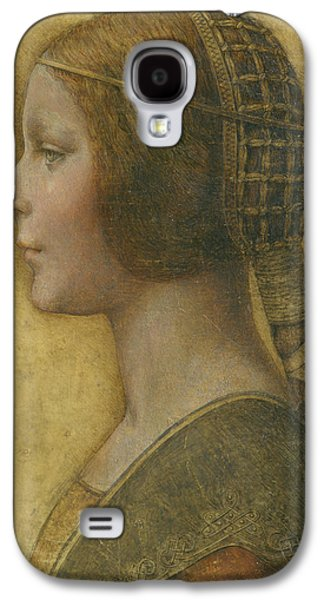 Dressed Galaxy S4 Cases - La Bella Principessa - 15th Century Galaxy S4 Case by Leonardo da Vinci