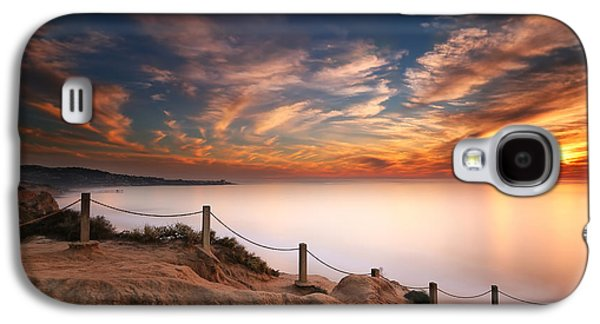 Sun Photographs Galaxy S4 Cases - La Jolla Sunset Galaxy S4 Case by Larry Marshall