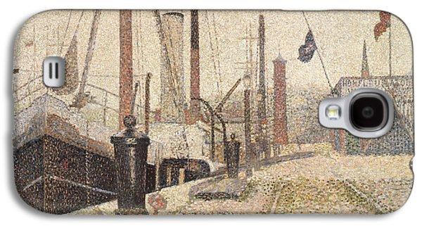 La Maria At Honfleur Galaxy S4 Case by Georges Pierre Seurat