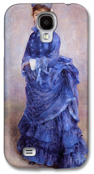 La Parisienne The Blue Lady  Galaxy S4 Case by Pierre Auguste Renoir