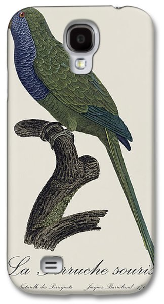 La Perruche Souris / Monk Parakeet- Restored 19th Century Illustration By Jacques Barraband  Galaxy S4 Case by Jose Elias - Sofia Pereira