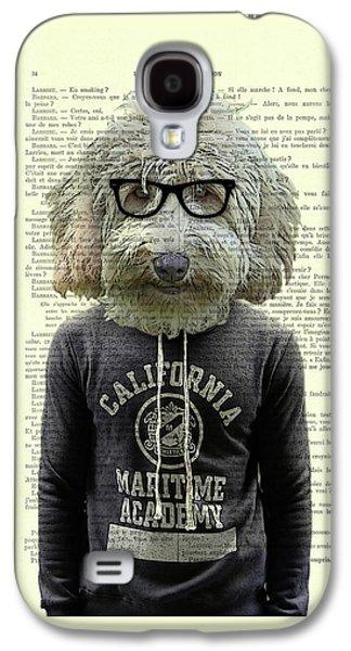 Labradoodle Dog Portrait Art Galaxy S4 Case by Madame Memento