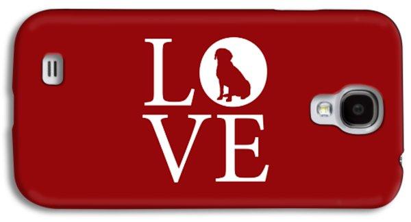 Labrador Love Red Galaxy S4 Case by Nancy Ingersoll