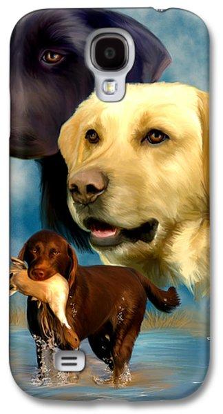 Labrador Retrievers Galaxy S4 Case by Becky Herrera
