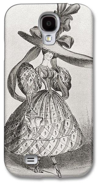 Ladies Fashion In 1828, Wasp Waist Galaxy S4 Case