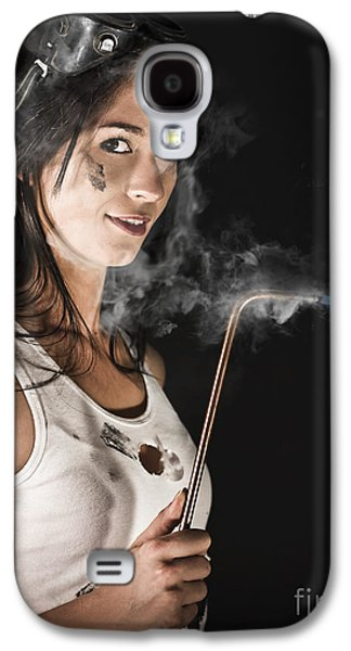 Lady Boilermaker At Work Galaxy S4 Case by Jorgo Photography - Wall Art Gallery