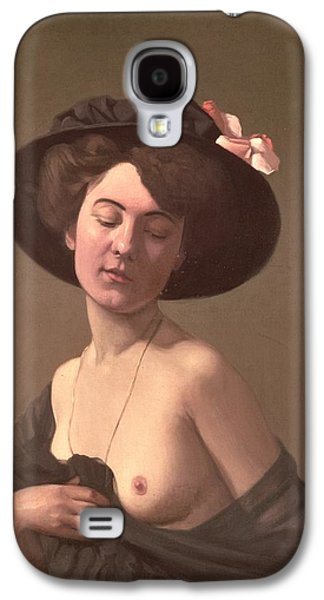 Lady In A Hat Galaxy S4 Case by Felix Edouard Vallotton