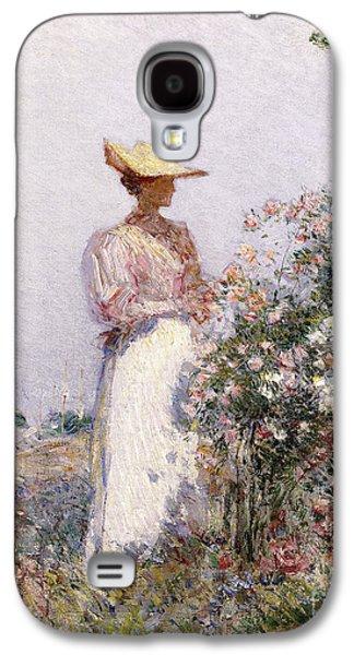 Lady In Flower Garden Galaxy S4 Case by Childe Hassam