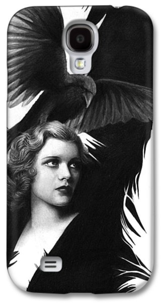 Lady Raven Surreal Pencil Drawing Galaxy S4 Case by Thubakabra