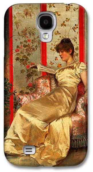 Lady Reading Galaxy S4 Case by Joseph Frederick Charles Soulacroix