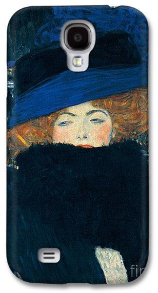 Lady With A Hat And A Feather Boa Galaxy S4 Case