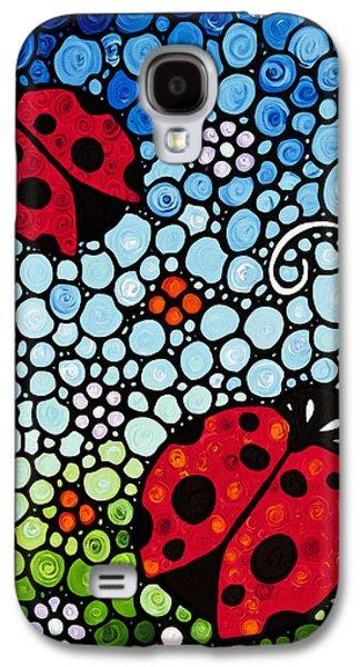 Ladybug Art - Joyous Ladies 2 - Sharon Cummings Galaxy S4 Case by Sharon Cummings