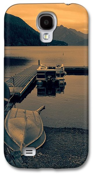 Lake Crescent Boats At Sunset Galaxy S4 Case by Dan Sproul