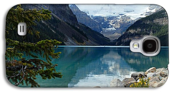 Lake Louise 2 Galaxy S4 Case by Larry Ricker