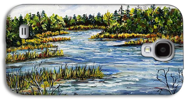 Lake Musky Galaxy S4 Case by Linda Steine