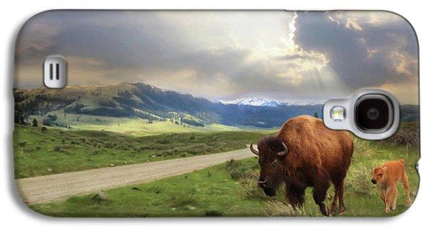 Lamar Valley Bison Galaxy S4 Case by Lori Deiter